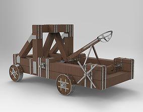 3D asset Antique Catapult