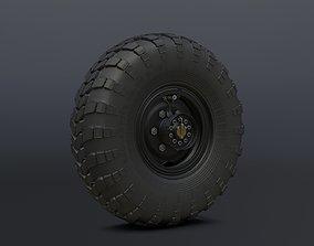 3D asset Off-road wheel for Gaz-66