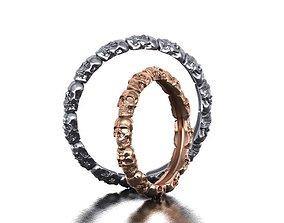 Skull band ring 3d model 0183 3dring
