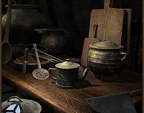 3D model Old Kitchen