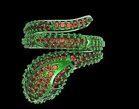 3D printable model snake ring 003
