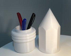 BIG PENCIL CASE WITH ERASER 3D print model