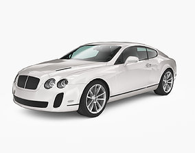 3D asset rigged Bentley Continental SuperSports 2010