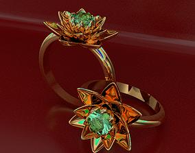 jewelry Ring Flower 3D printable model