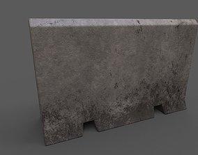 Concrete Barrier Type 2 3D model