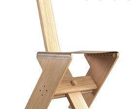 3D Canone Chair By Lando Studio Designed by Enzo Berti