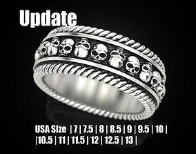 3D printable model Skulls ring 2 Many sizes of the