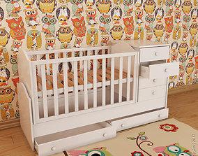 furniture Baby crib 3D model