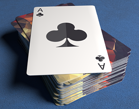 3D model 54 Playing Cards