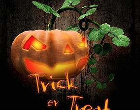 Halloween Pumpkins PBR Lowpoly 3D model