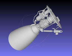 Space-X Raptor BFR Engine Simplified Printable Model