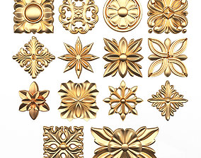 Rosette Carved Collection CNC 3D model