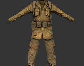 World War 2 American Soldier Uniform 3D model