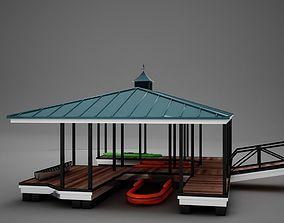 3D HD Small Harbor Dock