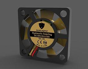 Fan DC 5V 30x30x8 3D asset