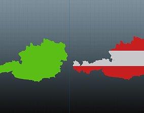 3D model Austria map symbol