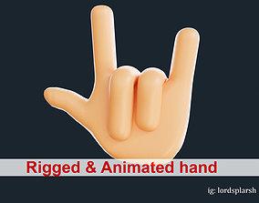 Animated Emoji Hand Gesture 3D model