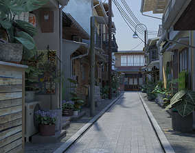 Japanese Street 3D model low-poly