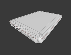 External Hard Drive Low Poly Version 3D model