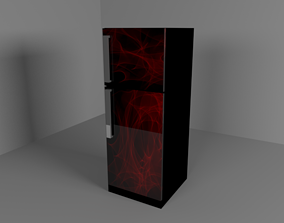 interior-design A Beautiful Refrigerator 3D model