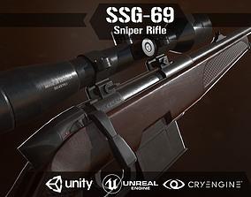 3D asset SSG 69 Sniper Rifle