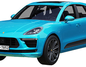 luxury Porsche Macan Turbo 2020 3D model