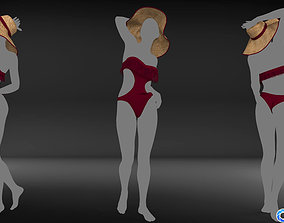3D model low-poly Collection swimwear