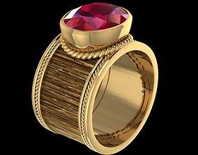 3D print model gold ruby Wedding ring