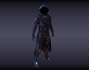 3D asset rigged sci fi character