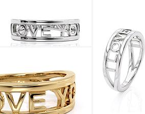 3D print model R 0252 Love You Ring
