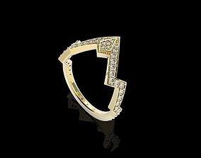 Diamond Ring with Radius Design 3D print model