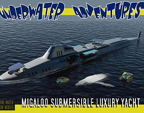 Migaloo submersible luxury yacht 3D model