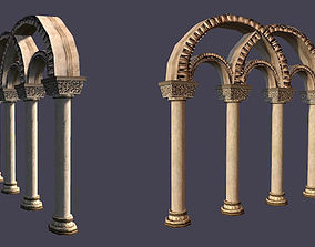 Medieval Gothic Archs Lowpoly 3D model