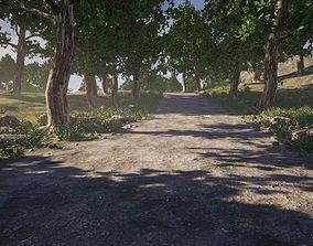Rough path in UE4 3D model