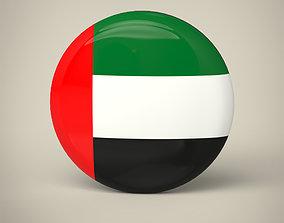 UAE Badge 3D asset