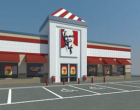 KFC with Parking 3D