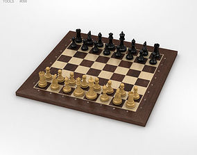 3D model Classic Chess Set