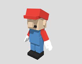 3D asset Voxel Mario