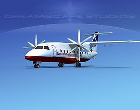 3D model Dornier Do-328-130 Scot Airways