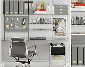 3D model furniture and stationery for office 5