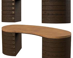 3D model brass Table Armani Casa Giunone
