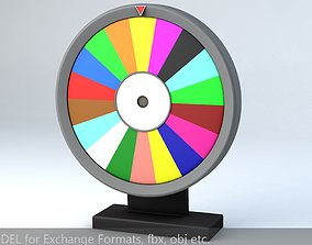 3D Fortune Wheel High Poly