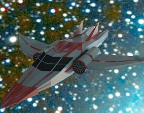 3D asset game-ready PBR Spaceship
