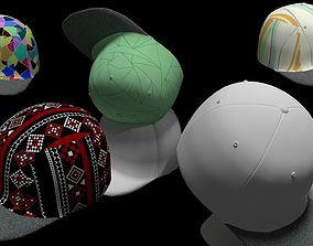 3D model Baseball Brim Hat with 190 SEAMLESS Texture