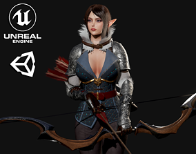 3D asset Archer Girl - Game Ready