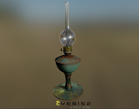 Oil Lamp 3D asset realtime PBR