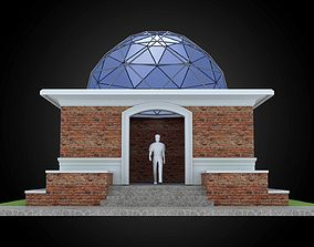 3D Dome 8x incl base structure with entry opening