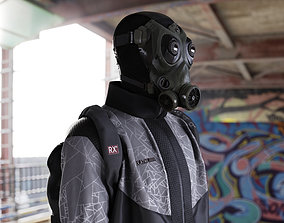 Post-apocalyptic survivor character 3D PBR