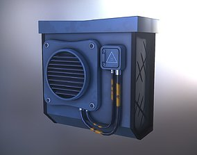 Air conditioning Game Ready - Low Poly 3D Model game-ready