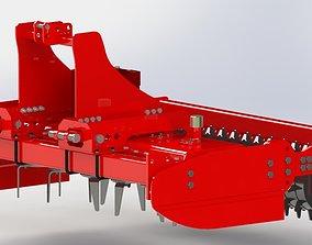 Vertical Power Harrow engineering 3D print model